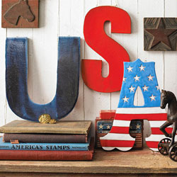 USA patriotic decor