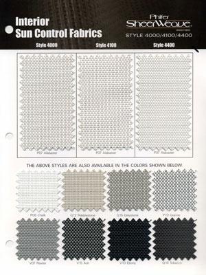 Phifer Sheerweave Phifer SheerWeave Style 4000 Sample Card  Search Results