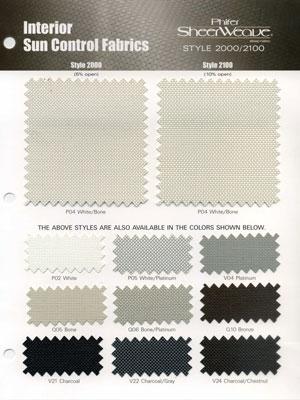 Phifer Sheerweave Phifer SheerWeave Style 2000 Sample Card  Search Results