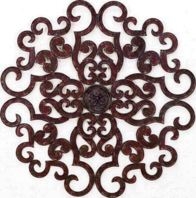 Dr  Livingstone Oversized Brown Taupe Scroll Wall Grille  Metal Wall Decor