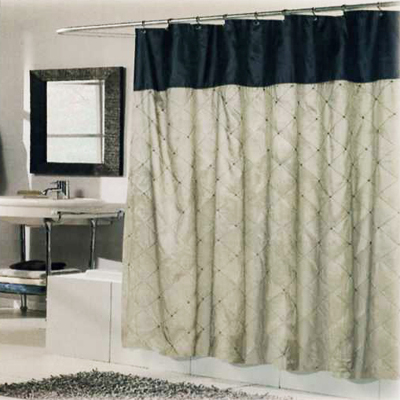 Carnation Home Fashions  Inc Balmoral Shower Curtain Brown Black Search Results