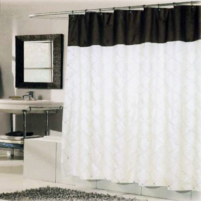 Carnation Home Fashions  Inc Balmoral Shower Curtain Ivory Brown Search Results
