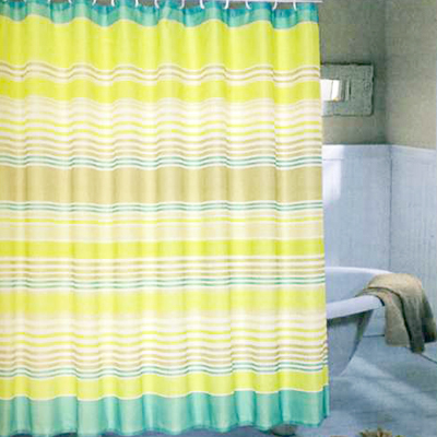 Carnation Home Fashions Inc Brighton Extra Wide Shower Curtain Multi Fabric Curtains