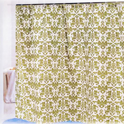 Carnation Home Fashions  Inc Damask Shower Curtain Sage Ivory Search Results