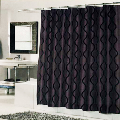 Carnation Home Fashions  Inc Geneva Shower Curtain Brown Black Search Results