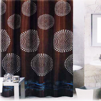 Carnation Home Fashions  Inc Hanover Shower Curtain Brown Search Results