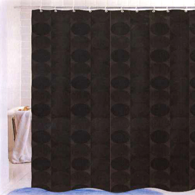 Carnation Home Fashions  Inc Jacquard Circles Shower Curtain Brown Search Results