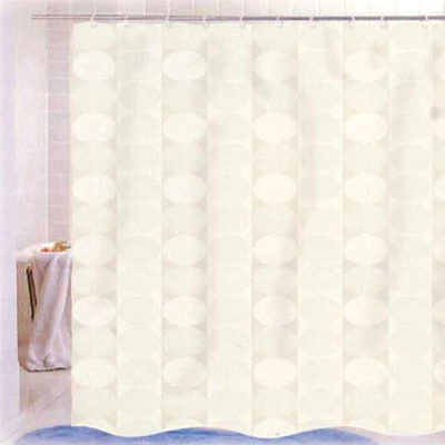 Carnation Home Fashions  Inc Jacquard Circles Shower Curtain Ivory Search Results