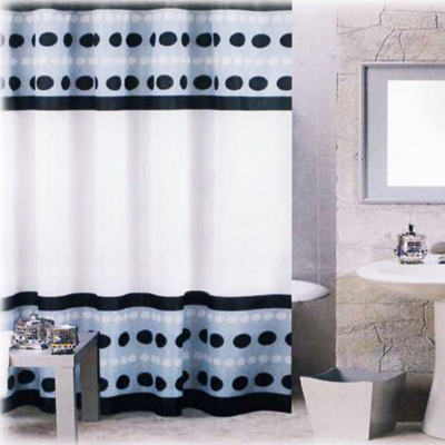 Carnation Home Fashions  Inc Metro Shower Curtain Black Search Results