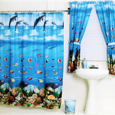 Carnation Home Fashions  Inc Seascape Shower Curtain Multi Search Results