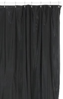 Hotel Quality 8 Gauge Vinyl Shower Curtain Liner Black