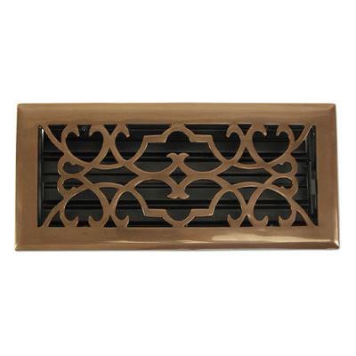Brass Elegans Victorian Antique Brass Floor Register - 4x10  Search Results