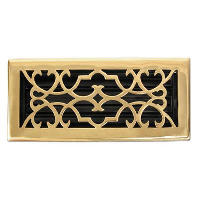 Brass Elegans Victorian Polished Brass Return Air Grill - 6x12  Search Results
