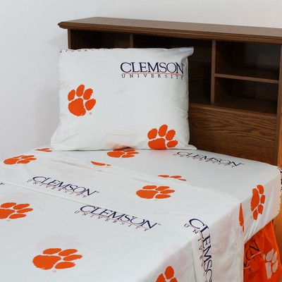 College Covers Clemson Tigers Sheet Set - White  Search Results