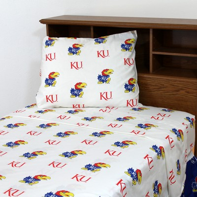 College Covers Kansas Jayhawks Sheet Set - White  Search Results
