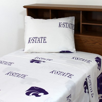 College Covers Kansas State Wildcats Sheet Set - White  Search Results