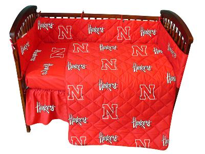 College Covers Nebraska Cornhuskers Crib Bedding Set  Search Results