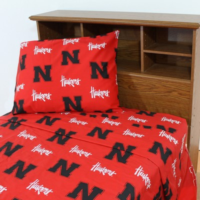 College Covers Nebraska Cornhuskers Sheet Set - Red  Search Results