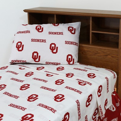 College Covers Oklahoma Sooners Sheet Set - White  Search Results