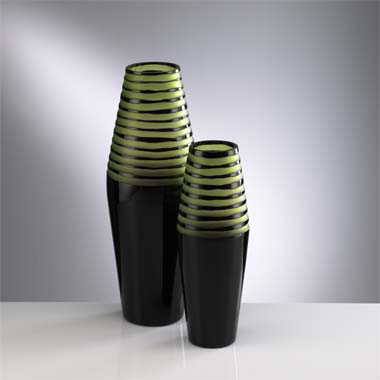 Cyan Design Dark Green and Lime Chiseled Vase  Contemporary Vase