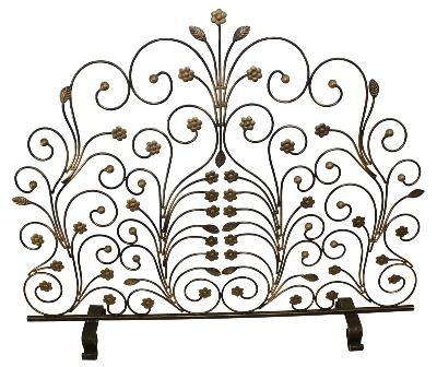 Dr  Livingstone Burnished Gold Fire Screen with Light Burnished Gold Leaf and Floret Accents Burnished Gold Search Results