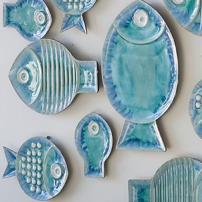Global Views Blue Fish Plates  Search Results