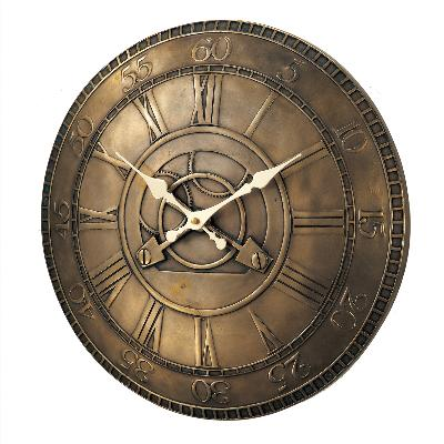 Kirch & Co Bronze Gear Clock  Wall Clocks