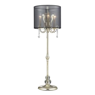 Lazy Susan d2216 Silver Leaf Buffet Lamp