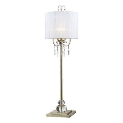 Lazy Susan d2217 Silver Leaf Buffet Lamp