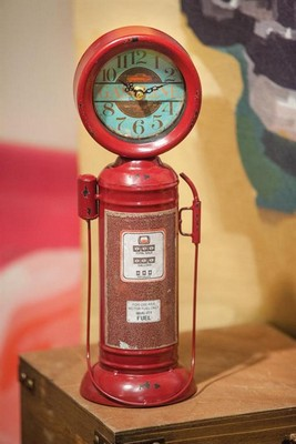 Manual Woodworkers and Weavers  Inc Retro Gas Pump Table Clock  Search Results