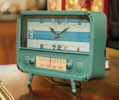 Manual Woodworkers and Weavers  Inc Retro Tv Table Clock Blue  Search Results