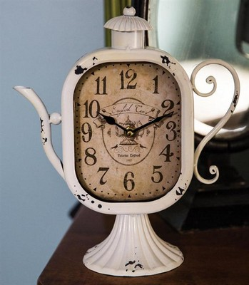 Manual Woodworkers and Weavers  Inc Teapot Table Clock Cream  Search Results