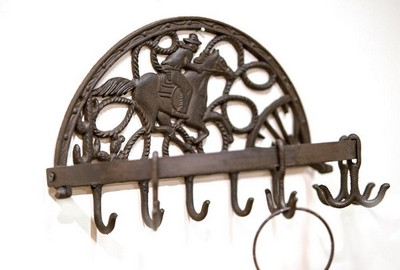 Manual Woodworkers and Weavers  Inc Cast Iron Cowboy Half Round Hook Set  Search Results