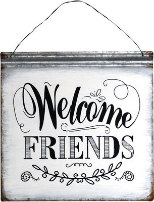 Manual Woodworkers and Weavers  Inc Welcome Friends Metal Word Sign Square  Search Results