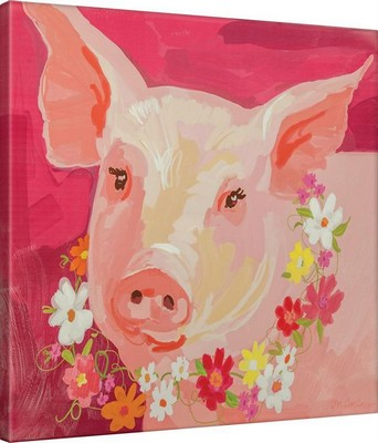 Manual Woodworkers and Weavers  Inc Pinky The Pig Canvas Art  Search Results