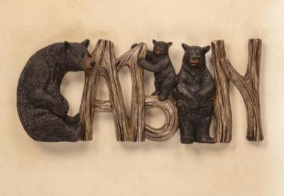 Manual Woodworkers and Weavers  Inc Lodge Black Bear Cabin Sign  Search Results