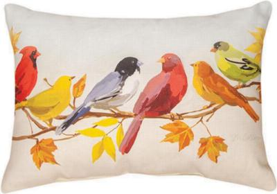 Manual Woodworkers and Weavers  Inc Flocked Together In The Fall Pillow  Search Results