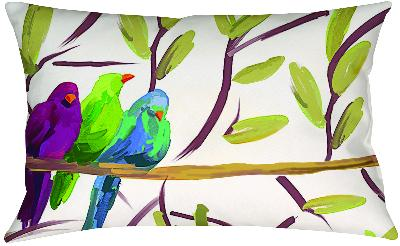 Manual Woodworkers and Weavers  Inc Flocked Together Songbirds Knife Edge Rectangle Pillow  Search Results