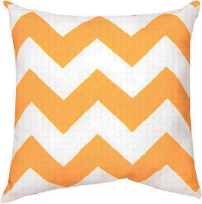 Manual Woodworkers and Weavers  Inc Chevron Orangewhite 18 Pw Ke Io  Climaweave Indoor Outdoor Pillows