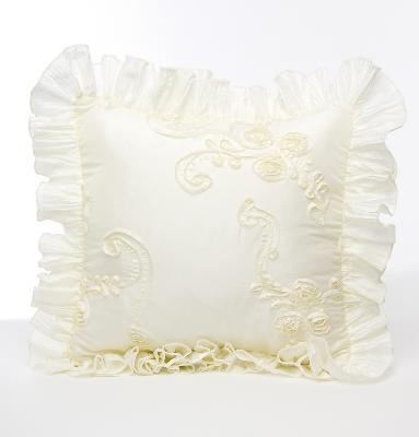 Glenna Jean Ava Cream Ribbon with Ruffle Pillow  Search Results