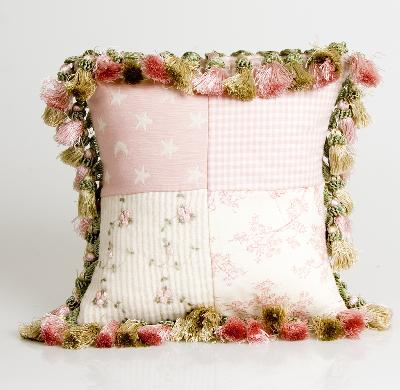 Glenna Jean Isabella Patch and Tassels Pillow  Search Results