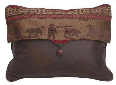 HomeMax Imports Cascade Lodge Bear Scene Envelope Pillow  Traditional Pillows