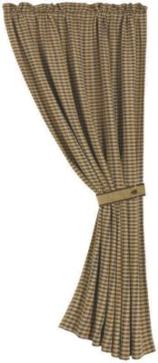 HomeMax Imports Crestwood Houndstooth Curtain Brown Search Results