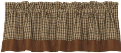 HomeMax Imports Crestwood Houndstooth Valance Brown Search Results