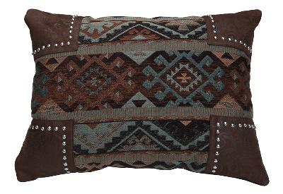HomeMax Imports Navajo Geometric Scalloped Chenille Pillow  Traditional Pillows