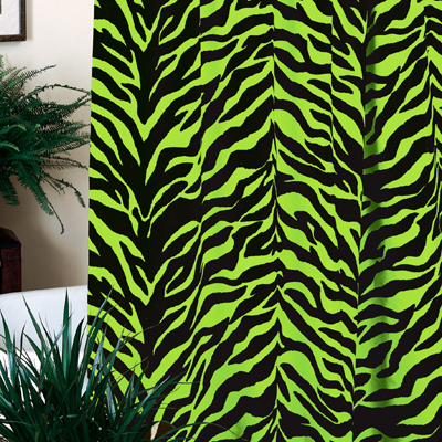 Kimlor Black and Lime Zebra Shower Curtain  Search Results