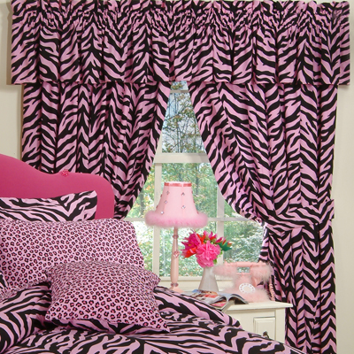Kimlor Pink Zebra Print Curtain Panels 2 Search Results