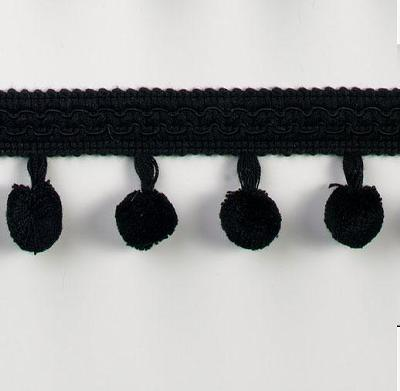 Expo International 1 3/4in Chenille Ball Fringe  Black Search Results