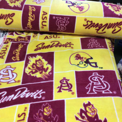 Foust Textiles Inc Arizona State Sun Devils Block Fleece  Search Results
