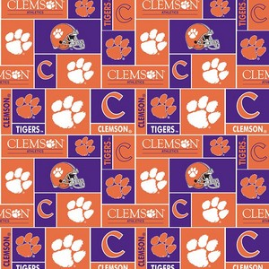 Foust Textiles Inc Clemson Tigers Block Fleece  Search Results